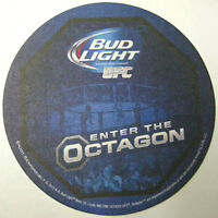 BUD LIGHT, UFC, ENTER THE OCTAGON Beer COASTER, Mat, 2013 Official Sponsor, NICE