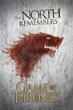 Game of Thrones The North Remembers Poster! Westeros War Iron Throne Never Hung!