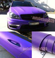 Whole Car Wrap - Hot Flat Metallic Matte Vinyl Sticker Purple  Decal 50FT x 5FT