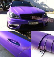 Entire Car Wrap - CBW Flat Metallic Matte Vinyl Sticker Purple  Decal 50FT x 5FT