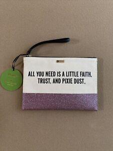 Disney Parks Kate Spade Faith Trust and Pixie Dust Wristlet Clutch Pouch