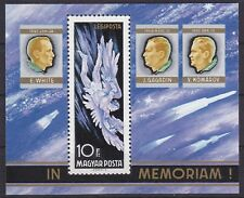 Hungary 1968 Astronauts Memoriam White Gagarin Komarov MS UM SGMS2355 Cat £8.50