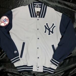 New York Yankees Spell Out Jacket Majestic Size Mens Large Tall
