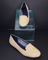 Jack Rogers Anchor Flats Loafers Size 10 Tan Gold