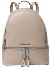 d0956d791bc5 New Michael Kors Rhea Zip Medium Backpack cement silver leather bag handbag  tote