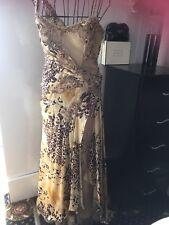Embellished Satin Long Dress