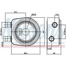 Original Nissens 90697 Ölkühler Motoröl für RENAULT
