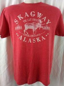 Skagway Alaska The Last Frontier Established 1959 Men's Shirt Size M Medium