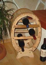 Botellero para Vino Recipiente 6 Botellas Natural Laqueado 55cm BAR Estante