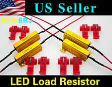 4x 50W 6 ohm Load Resistor Fix LED Bulb Fast Hyper Flash Turn Signal Blink