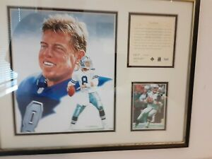 1995 Troy Aikman 14 X 11 Lithograph by R Cunningham limited edit 5027 of 12,000