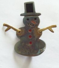 Vintage AHD Mexico Sterling SNOWMAN Pin