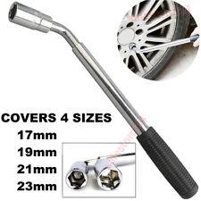 Extendable Car Wheel Brace Heavy Duty Nut Lug Wrench Sockets 17/19mm & 21/23mm