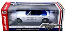 "AUTO WORLD 1:18 OFFICIAL INDIANAPOLIS ""500"" PACE CAR 1964 1/2 FORD MUSTANG AW209"