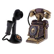 2X VINTAGE ANTIQUE STYLE ROTARY HANDSET DESK TELEPHONE EUROPEAN RETRO DIAL PHONE