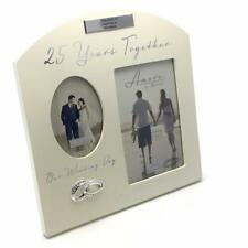 Personalised Silver 25th Wedding Anniversary Multi Photo Picture Frame FW82925-P
