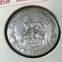 1911 GREAT BRITAIN SILVER SHILLING KING EDWARD