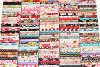 10 PCs Cotton Fabric Quilt Patchwork Floral Mix Bundle Job Lot Offcuts Scraps R1