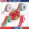 Xmas Ribbons Happy Merry Christmas Snowflakes Grosgrain Ribbon Gifts Wrapping
