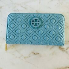 TORY BURCH Marion Soft Leather Diamond Quilted Zip Continental Wallet