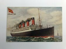 Raphael Tuck Antique Postcard - Celebrated Liners (Cunard Line) - Aquitania