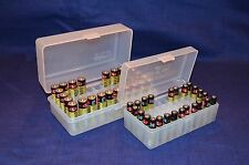 AA & AAA Battery Plastic Storage Containers HOLDS 50 BATTERIES EACH (CLEAR)