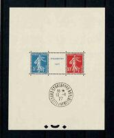 "FRANCE BLOC FEUILLET 2a "" STRASBOURG 1927 "" NEUF xx AVEC CACHET EXPOSITION V438"