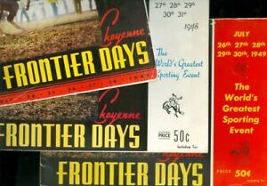 1945, 1948 & 1949 Cheyenne Frontier Days Souvenir Annuals Lot of 3