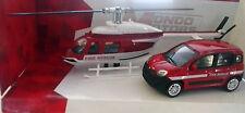 MONDO MOTORS SECURITY 1:43 AUTO FIAT NUOVA PANDA ED ELICOTTERO FIRE RESCUE 57004