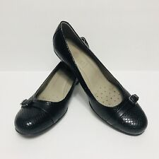 ECCO Women's Black Leather & Rubber soles Round Toe High Heel Dress Shoes Size 9