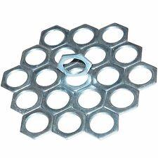 20 X 25mm Galvanised Light Steel Hexagonal Locknuts - BA50725G
