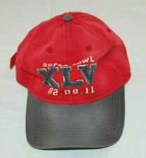 NEW NFL Red Super Bowl XLV 2/6/11 Green Bay Packers Win Adjustable Baseball Cap