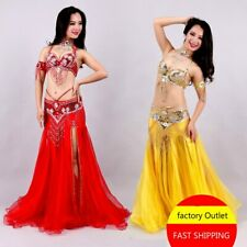 Popular Belly Dance Pearl Embroidered Skirt Bra Annual President Fish Tail Fork