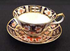 Royal Crown Derby England Traditional Imari #2451 Footed Cup & Saucer Set C.1940