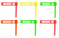 6 Neon Rattles - Football Pinata Toy Loot/Party Bag Fillers Wedding