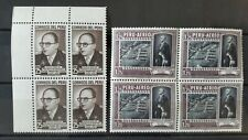 PERU 2x (1 airmail) stamp block of 4 mnh mint 1950´s
