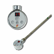 Thermostatic Towel Rail Radiator Element Timer Chrome Bathroom Electric Rad NEW