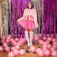 Thecreepsstore - Pink Pvc Skater Skirt / Mean Girls / Kawaii / S M 8 10 12