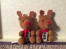 LOT OF 2 PEZ DISPENSERS RUDOLPH THE RED NOSED REINDEER PLUSH Keychain RARE EUC