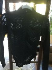 Fabulous Patent Black Jacket / Top From Lip Service XS Long Sleeve