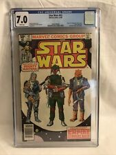 Star Wars #42 CGC 7.0 WHITE PAGES Newsstand 1st Appearance Boba Fett Marvel