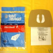 Royal Dirt Devil Tank Vacuum Bags Model Power Pak Style F 3200348001 1 Pack of 3