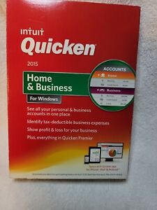 Intuit Quicken Home & Business 2015 for Windows PC ( New, Sealed ) Old Version