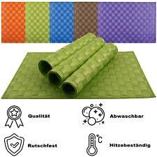 1x Platzsets Platzdeckchen Rutschfest Abwaschbar Tischmatten PVC Hitzebeständig