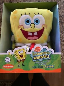 Spongebob Squarepants Toy Vault Plush Coin Bank  Nib
