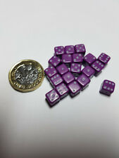 Dice & Games Opaque 20 x 7mm D6 Purple with White D&D RPG