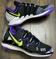 Nike Air Zoom Vapor X Kyrie V 5 NYC US Open Black Volt Purple BQ5952 002 US 12.5