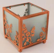 Partylite Votive Candle Holder Copper Lace Satin Glass Complete