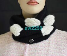 CHANEL 2010 CAMELLIA MOHAIR BLEND INFINITY SCARF HARD TO FIND CC LOGO