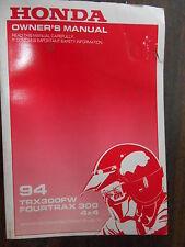 Vintage Honda Factory Owners Owner's Manual 1994 TRX300FW 31HM5600